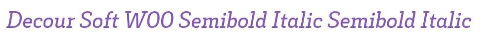 Decour Soft W00 Semibold Italic