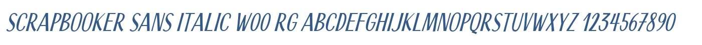 Scrapbooker Sans Italic W00 Rg