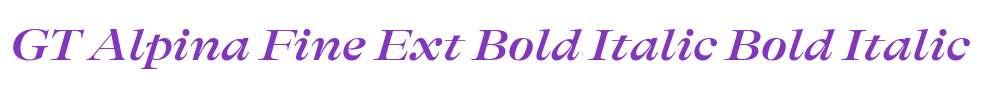 GT Alpina Fine Ext Bold Italic