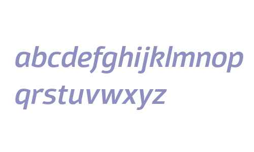 Moveo Sans W00 SemiBold Italic