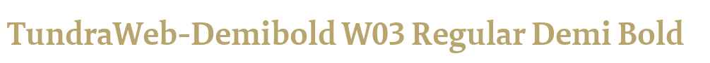 TundraWeb-Demibold W03 Regular