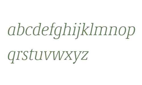 Demos Next W04 Light Italic