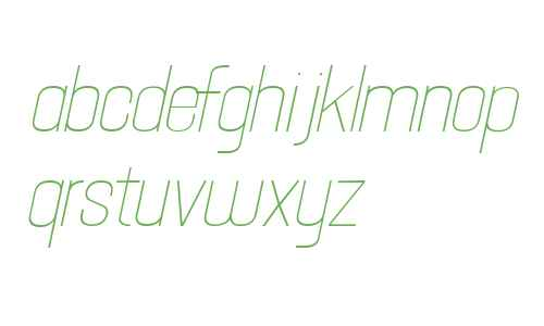 Hallandale Text Light Italic JL