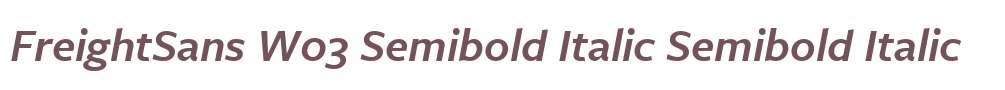 FreightSans W03 Semibold Italic