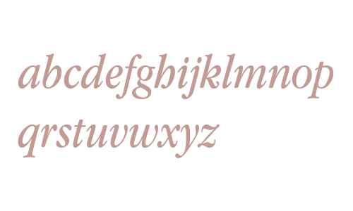 Apple Garamond Book Italic