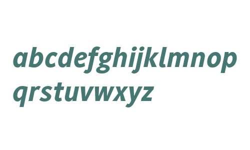 Generis Sans W04 Heavy Italic