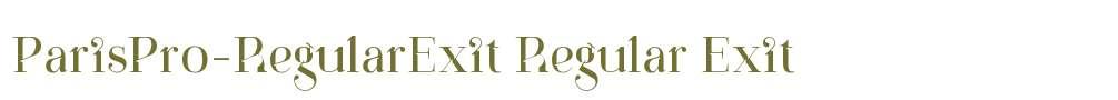 ParisPro-RegularExit
