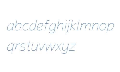 Magnum Sans W01 Thin Italic V2