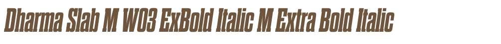 Dharma Slab M W03 ExBold Italic