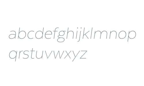 Texta Alt W00 Thin Italic