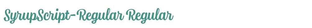 SyrupScript-Regular