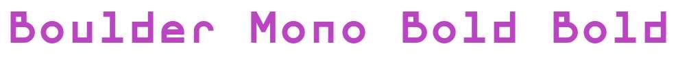 Boulder Mono Bold