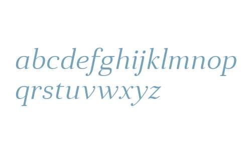 Anglecia Pro Text Light Italic