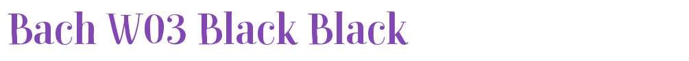 Bach W03 Black