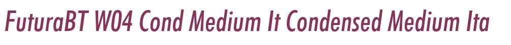 FuturaBT W04 Cond Medium It
