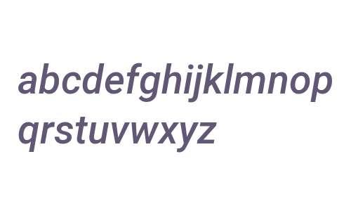 Roboto Medium Italic V2