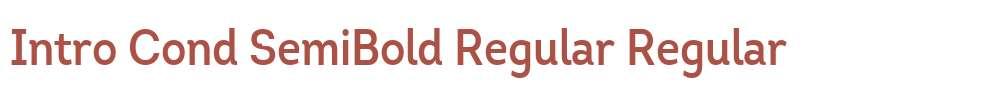 Intro Cond SemiBold Regular