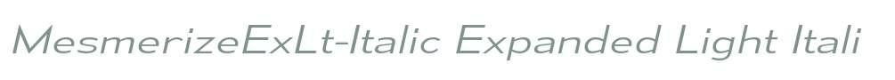 MesmerizeExLt-Italic