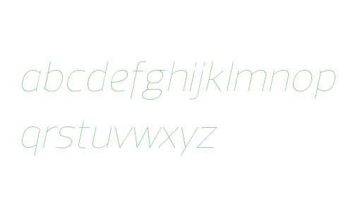 Regan W00 UltraLight Italic