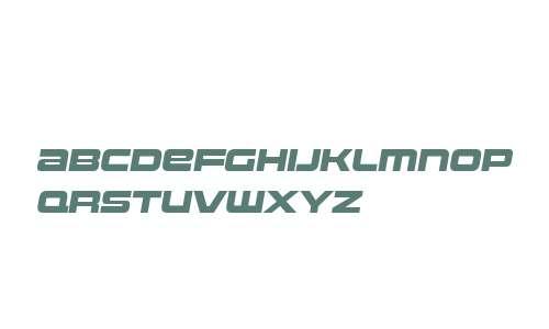 Uniwars W00 Heavy Italic