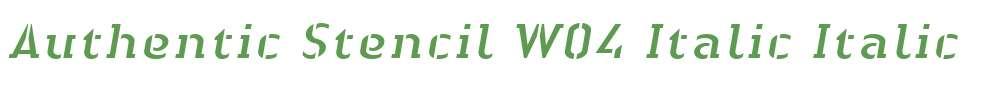 Authentic Stencil W04 Italic