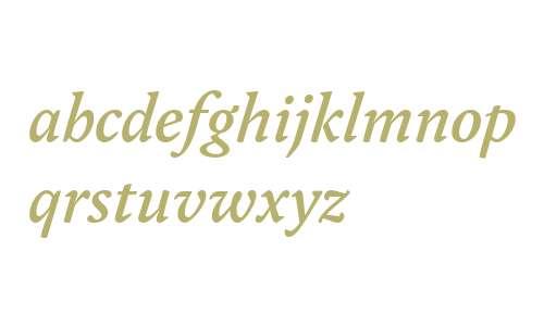 Yoga OT W03 Medium Italic