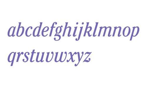 ITC Cheltenham Std Book Condensed Italic