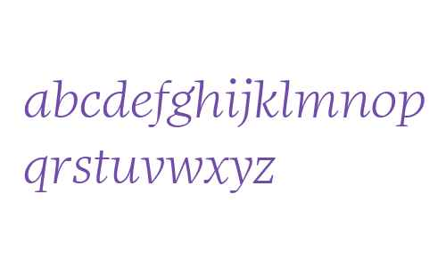More Offc W00 Wide Light Italic
