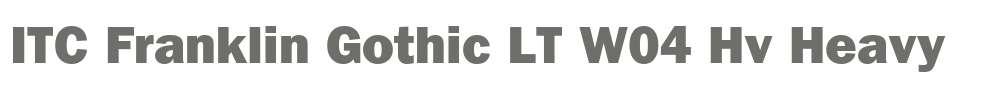 ITC Franklin Gothic LT W04 Hv