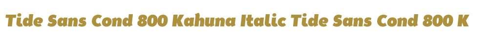 Tide Sans Cond 800 Kahuna Italic