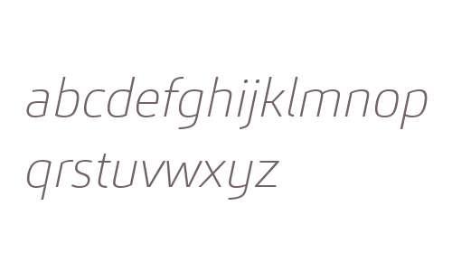 Carnac W03 Thin Italic