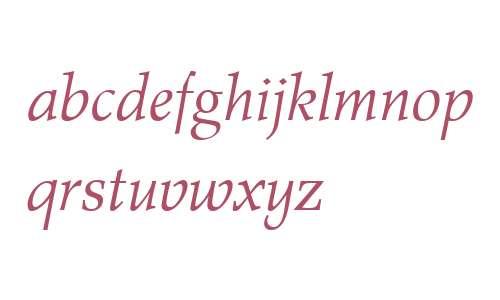 Wile Roman W04 Italic
