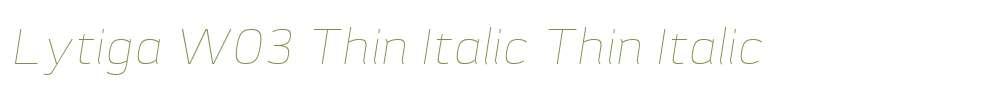 Lytiga W03 Thin Italic