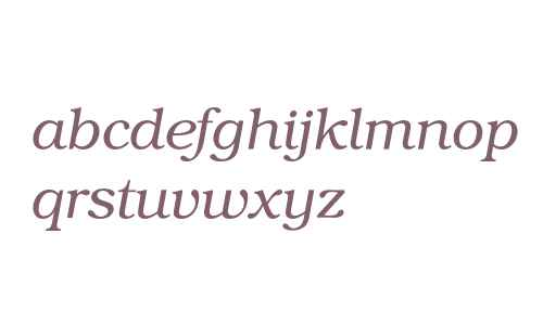 Bookman* Light Italic