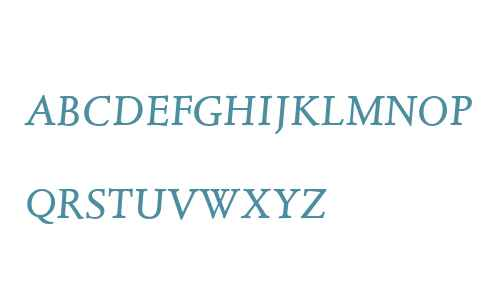 Juliana Text W01SC Italic SC