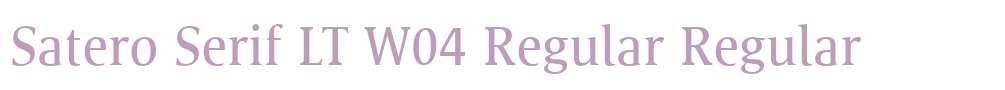 Satero Serif LT W04 Regular