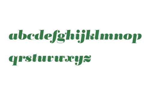 BridoneTitling Heavy Italic