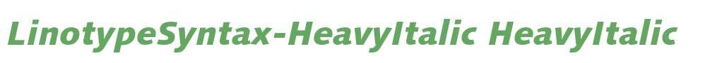 LinotypeSyntax-HeavyItalic