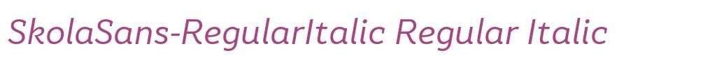 SkolaSans-RegularItalic