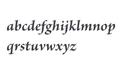 Brioso Pro Bold Italic
