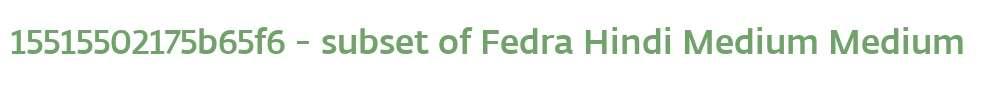15515502175b65f6 - subset of Fedra Hindi Medium