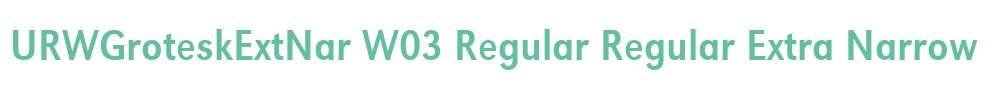 URWGroteskExtNar W03 Regular