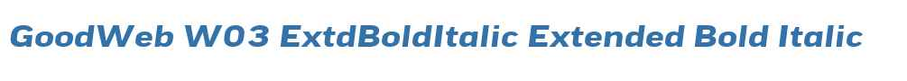 GoodWeb W03 ExtdBoldItalic
