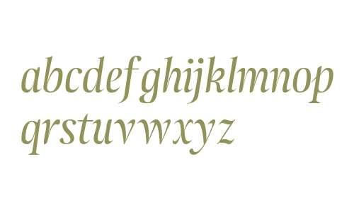 Atlantica Display Ligatures Italic