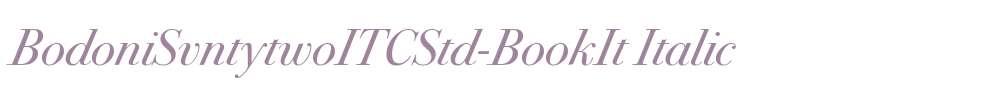 BodoniSvntytwoITCStd-BookIt