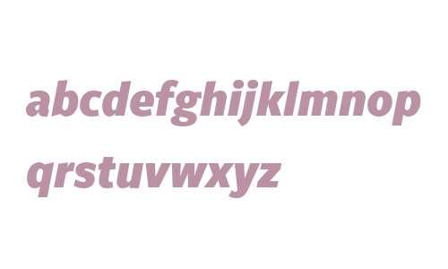 FreightSansCnd W03 Black Italic