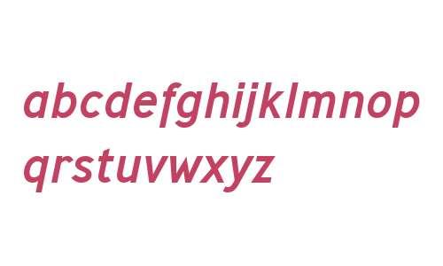 Ministry W00 Medium Italic