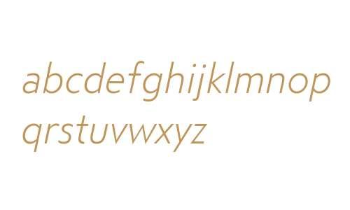 Steagal W01 Light Italic