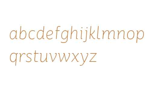 St Ryde W01 Thin Italic