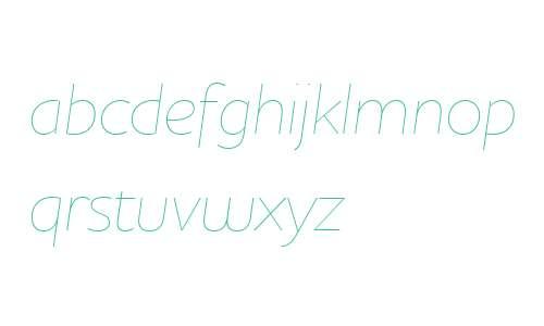 Houschka W03 Thin Italic